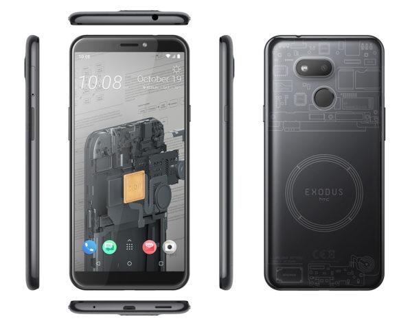 Общий вид блокчейн-смартфона от HTC