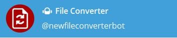 Файловый конвертер - @FileConverterBot